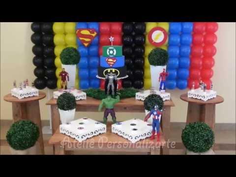 Decoração de festa infantil Super Heróis