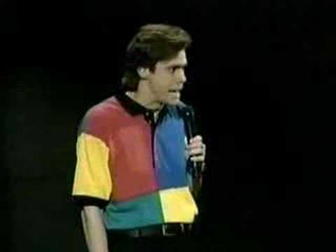 funny stand up of Jim Carrey talking about canada