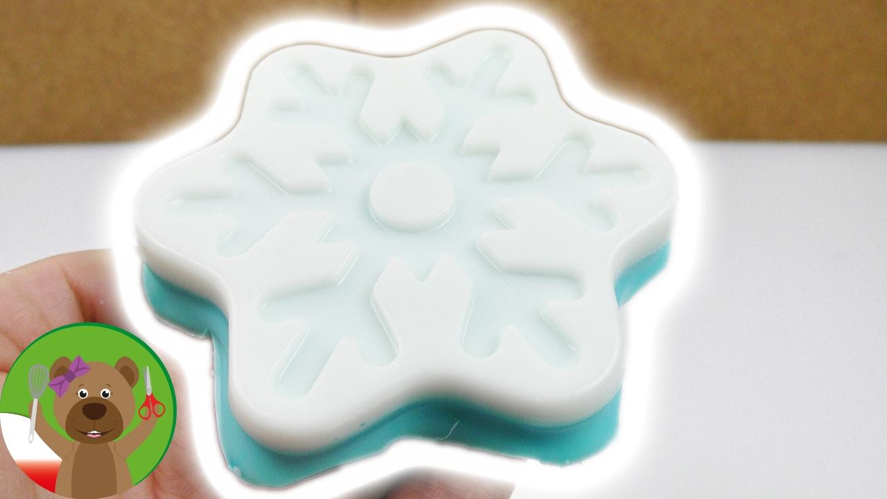 Mydło w kształcie płatka śniegu | Frozen look soap | pomysł na efektowny prezent