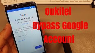 Oukitel C8. Remove Google account bypass FRP.Without PC.