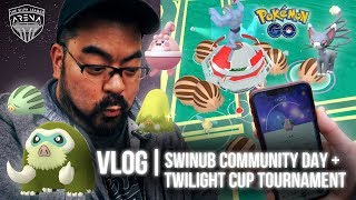 Pokémon GO Vlog 126: Swinub Community Day! & Twilight Cup Tournament!