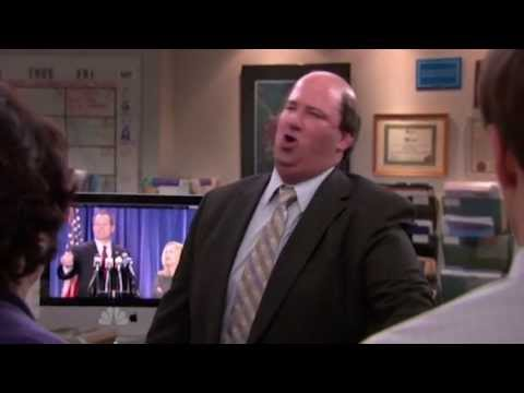 Great scene from Kevin Malone played by Brian Baumgartner in Season 9, Episode 19 of The Office US.
