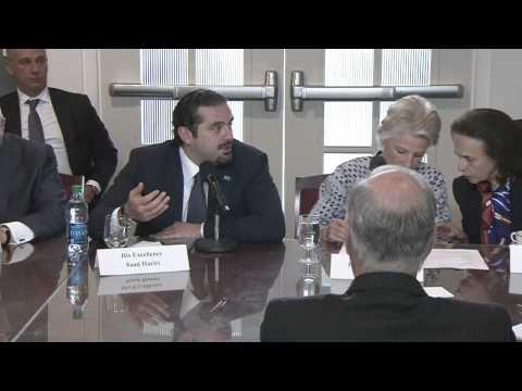 Meeting with Saad Hariri