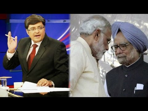 The Newshour Debate: Narendra Modi outdoes Manmohan Singh? - Full Debate (25th Jan 2015)