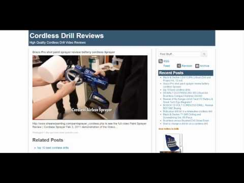 wWw.CordlessDrillReviews.org - High Quality Cordless Drill Video Reviews