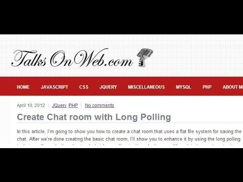 create chat room php mysql