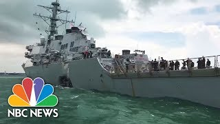 Sailors Missing, Injured After U.S. Warship Collides With Tanker | NBC News