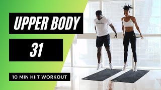 No.50// INTENSE NO EQUIPMENT // UPPER BODY HOME WORKOUT // 10 MIN HIIT // MR AND MRS MUSCLE