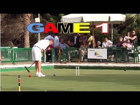 GAME 1 - Golf Croquet World Championship Final Bamford vs Nasr Cairo (HD)