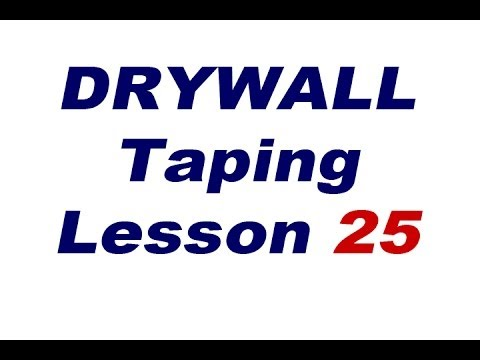 Loading the flats for drywall finishing. Lesson 25 Drywall Taping Lessons
