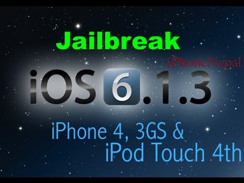 How To Jailbreak 6.1.3 Semi Untethered iOS iPhone 4. iPhone 3GS And iPod Touch 4