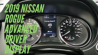 2019 Nissan Rogue - a walk through of the Advanced driver display.l (Canada)