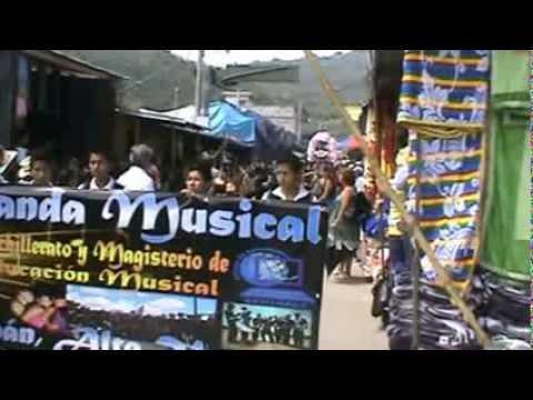 Colegio Ceninfav - Presentación de la banda del colegio En Feria De Cubulco, Baja Verapaz