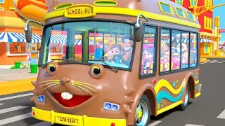 I Spy Game Song for Kids | Wheels on the Bus Nursery Rhymes by Little Treehouse