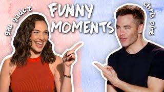 Gal Gadot & Chris Pine's Friendship! CUTE & FUNNY MOMENTS! Wonder Woman Interviews