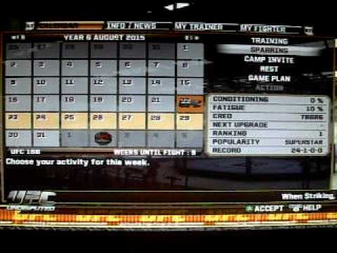 How To Get 100 Sparring Points In Ufc 2010 Undisputed