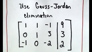 ❖ Gaussian Elimination ❖