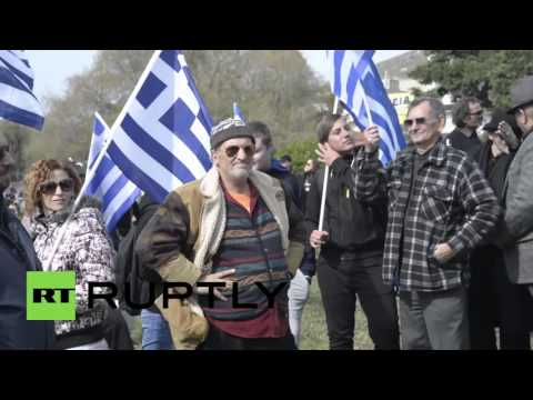 Greece: Golden Dawn supporters protest against refugee centre in Peiraias