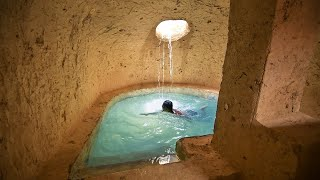 This Summer's Living & Building Underground Temple Tunnel House With Swimming Pools
