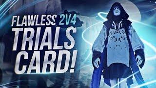 Destiny 2: Flawless 2V4 Trials of The Nine Card | Insane Plays & Highlights!