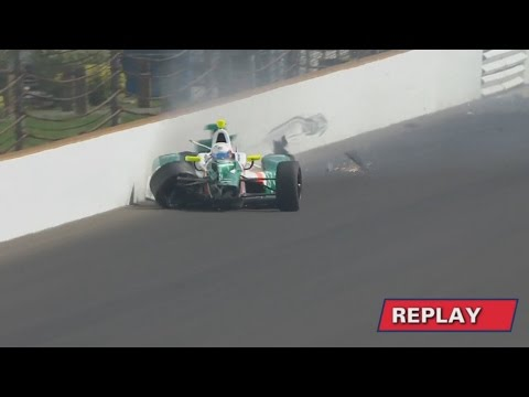 IndyCar Series 2017. FP5 Indy 500. Spencer Pigot Hard Crash