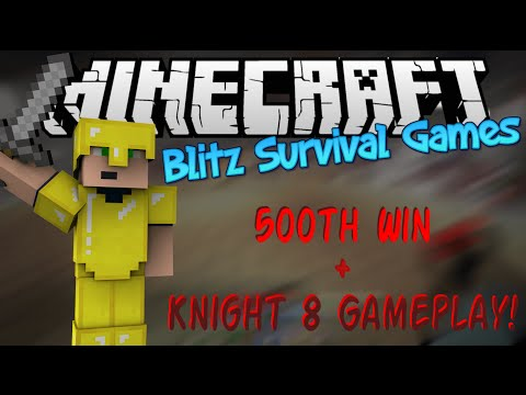 Minecraft: Blitz Survival Games - 500th Win + Knight 8 Gameplay! (Hypixel.net)