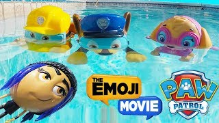 The Emoji Movie Jailbreak Swims Underwater in Nick Jr Paw Patrol Pool Game, Skye  | Ellie Sparkles