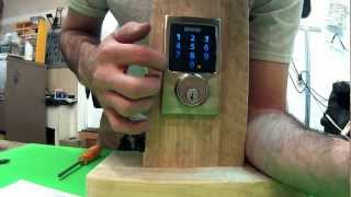 How To Program The Schlage Electronic Touchscreen Deadbolt