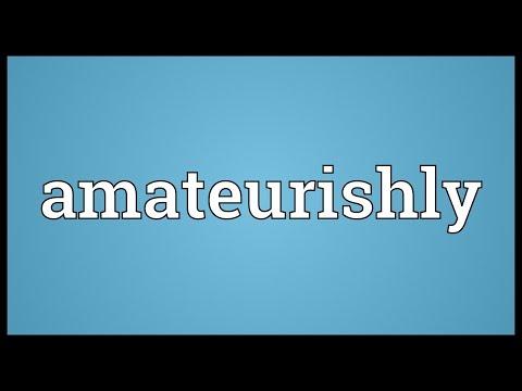 Header of amateurishly