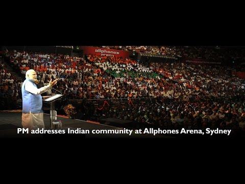 PM Shri Narendra Modi addressed Indian Community at Allphones Arena, Sydney - Australia
