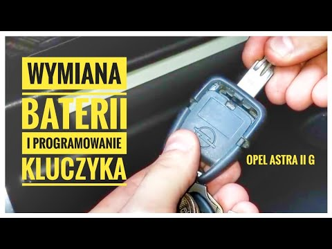 Wymiana Baterii I Programowanie Kluczyka Pilota - Opel Astra G