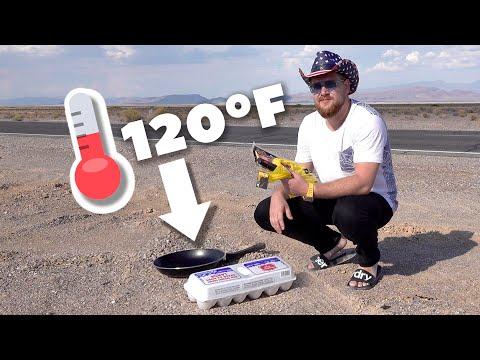 Можно ли пожарить яичницу на земле в Долине Смерти?
