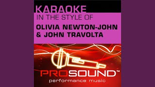 Hopelessly Devoted To You Karaoke Instrumental Track In The Style Of Olivia Newton John