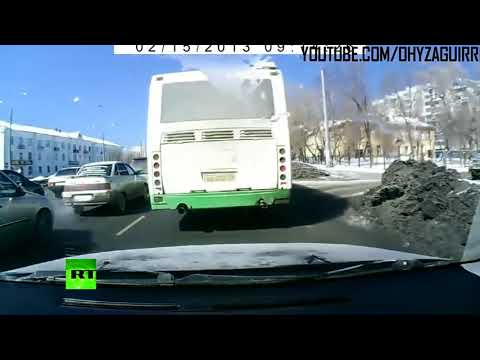Cenas IMPRESSIONANTES do Meteoro na Russia 12 15 2013