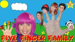 Daddy Finger Family Song - Five Finger Rhymes For Children - Debbie Doo!