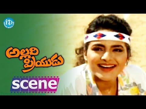 Allari Priyudu Movie Scenes - Madhubala lets Ramya Krishna win...