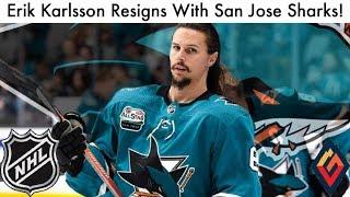 Sharks Sign Erik Karlsson To Eight-Year Contract! (NHL San Jose Extension Rumors, News & Talk 2019)