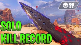 WORLD RECORD SOLO KILLS IN ONE GAME!!! - Apex Legends Battle Royale Gameplay