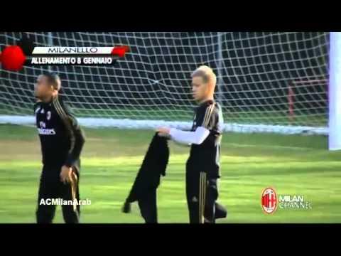 ミラノ本田圭佑最初のトレーニング   Keisuke Honda First Training For AC Milan 2014