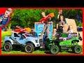 Monster Truck Vs. Ford Raptor Nerf Battle with GiANT Box Fort