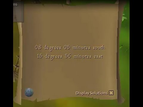 08 degrees 05 minutes south 15 degrees 56 minutes east OSRS coordinates clue