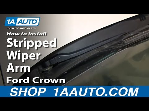 How To Install Fix Stripped Wiper Arm 1998-2011 Ford Crown Victoria
