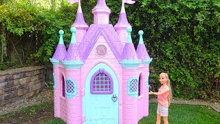 Rapunzel Pink Castle ! Toys and Dolls Fun for Kids w/ Little Tikes Magical Unicorn Carriage