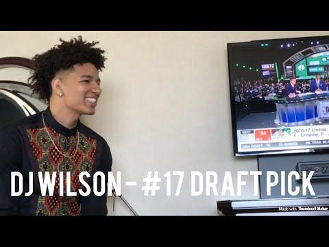 DJ WILSON'S NBA DRAFT DAY VLOG! Milwaukee Bucks #17 Draft Pick!!