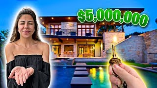 I Surprised Her With Dream $5,000,000 HOUSE!! (Birthday Gift)