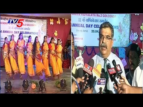 Kendriya Vidyalaya 2 Anniversary Celebrations At Golconda | Hyderabad | TV5 News
