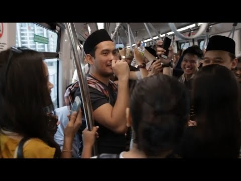 Viral sporting habis 1 train nyanyi lagu Chan Mali Chan