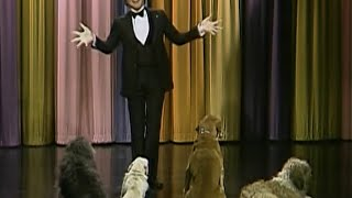 Steve Martin performs stand-up comedy for dogs on the Tonight Show