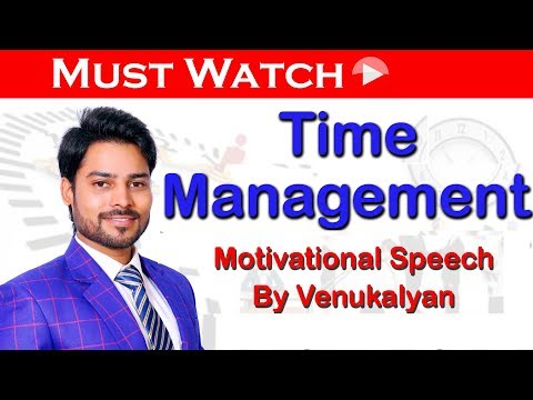 How to Utilise Time Anywhere Effectively-Useful & Easy Techniques by Venu Kalyan || New Telugu Video