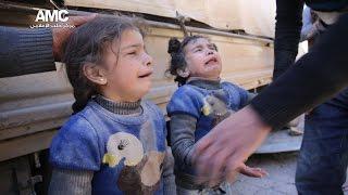 مروحيات النظام السوري تحرق البشر والحجر بأحياء في حلب